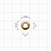 Блочка 10 Д (6мм*12мм) золото
