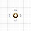 Блочка 3 Д 10мм (золото) (5мм*10мм)