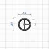Пряжка тёмный никель ZT 018224