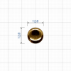 ZT 014019 12мм золото