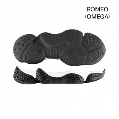Подошва Romeo Черный-белый